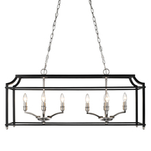 Golden 8401-LP PW-BLK - Linear Pendant